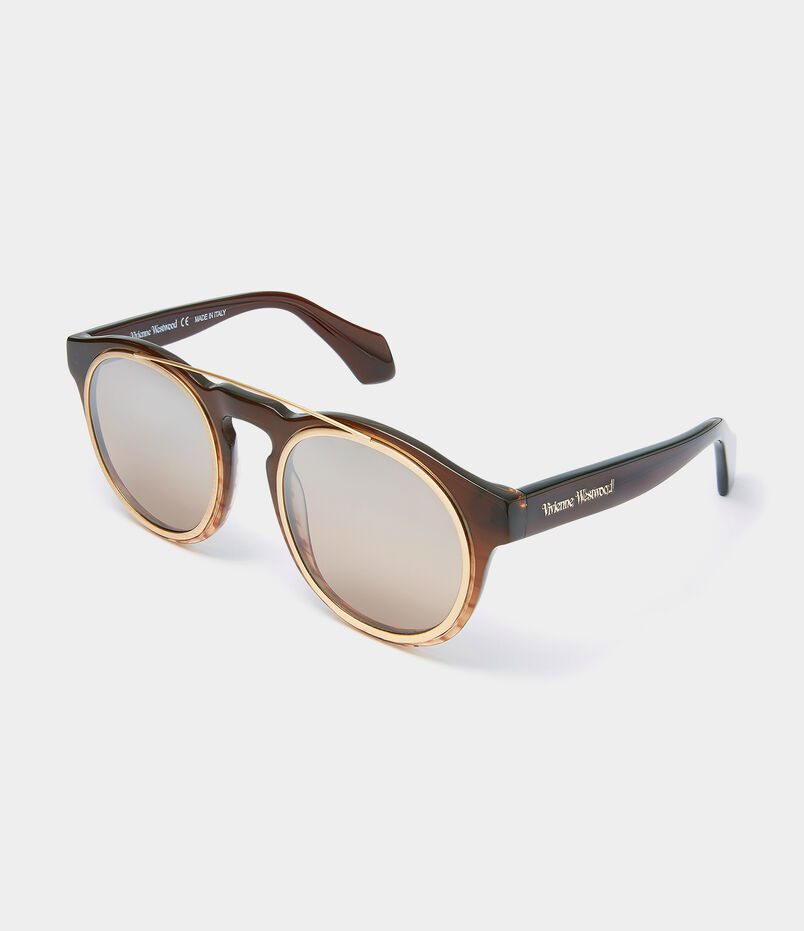 Overstructured Sunglasses Brown VW934S02