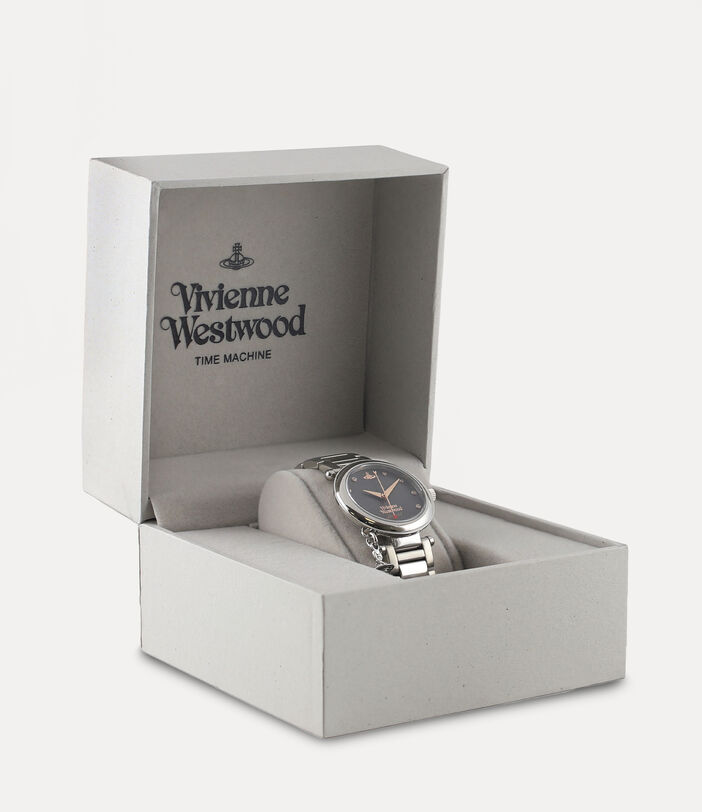 Orb Diamond Watch Silver Tone 5