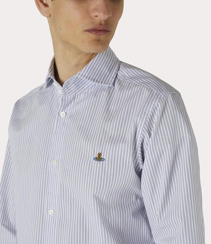 New Cutaway Shirt Blue Stripe 5