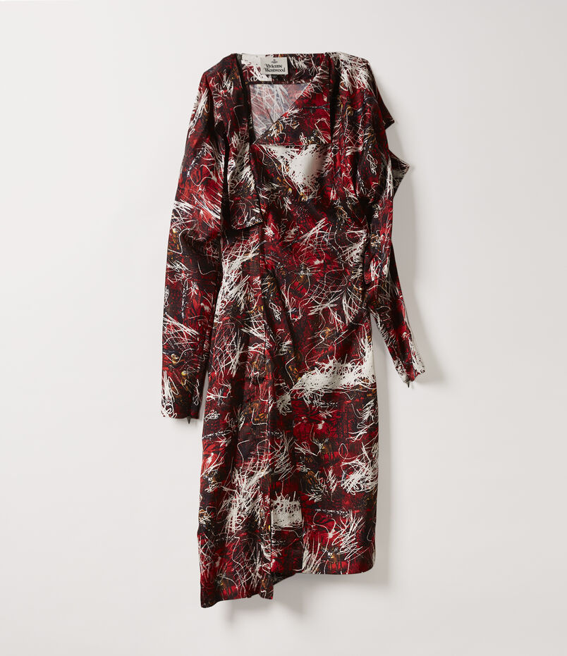 Broken Mirror Dress Orgy Print