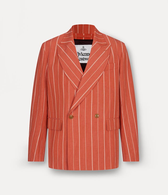 Relaxed Double Breasted Jacket Terracotta 1