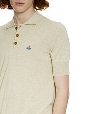 Spring Polo Shirt Cream/Grey Melange