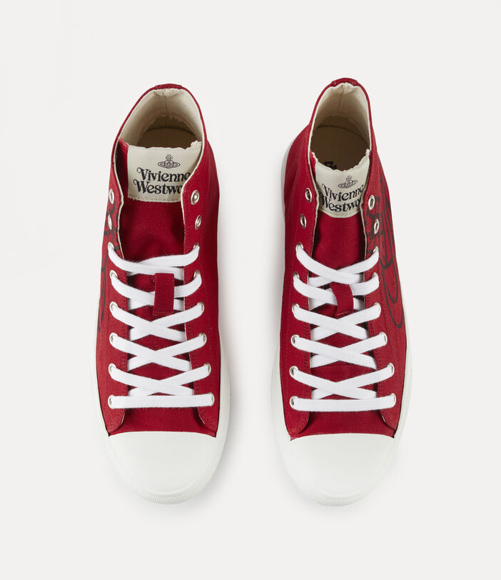 Men'S High Top Plimsolls Red 6