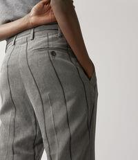James Bond Trousers Grey/Black Stripes