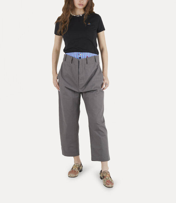 Alien Trousers Grey Check Herringbone 3