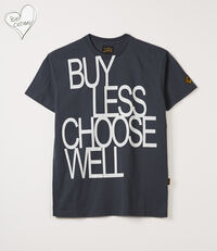 Boxy T-Shirt Buy Less Choose Well Anthracite