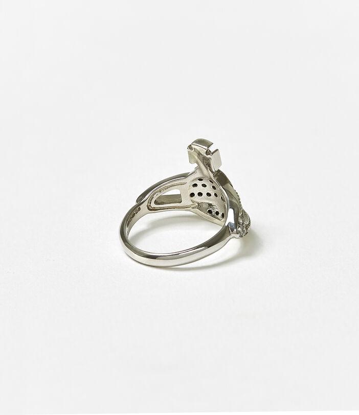 Mini Orb Ring Silver 3
