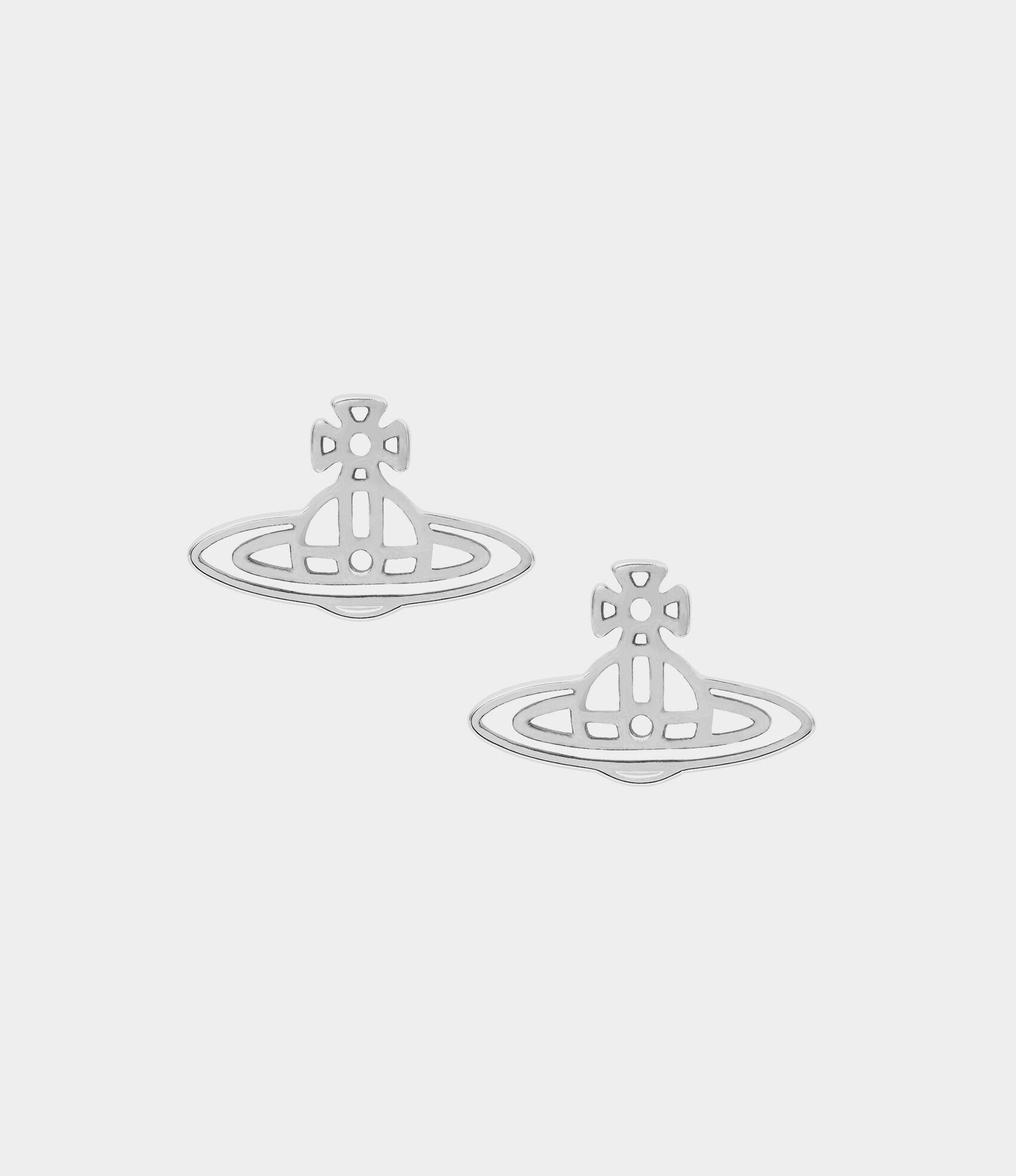 194817905 Thin Lines Flat Orb Stud Earrings | Women's Earrings | Vivienne Westwood