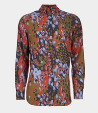 Two Button Krall Shirts Blue Camouflage