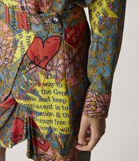 Wave Skirt Multicolour Print