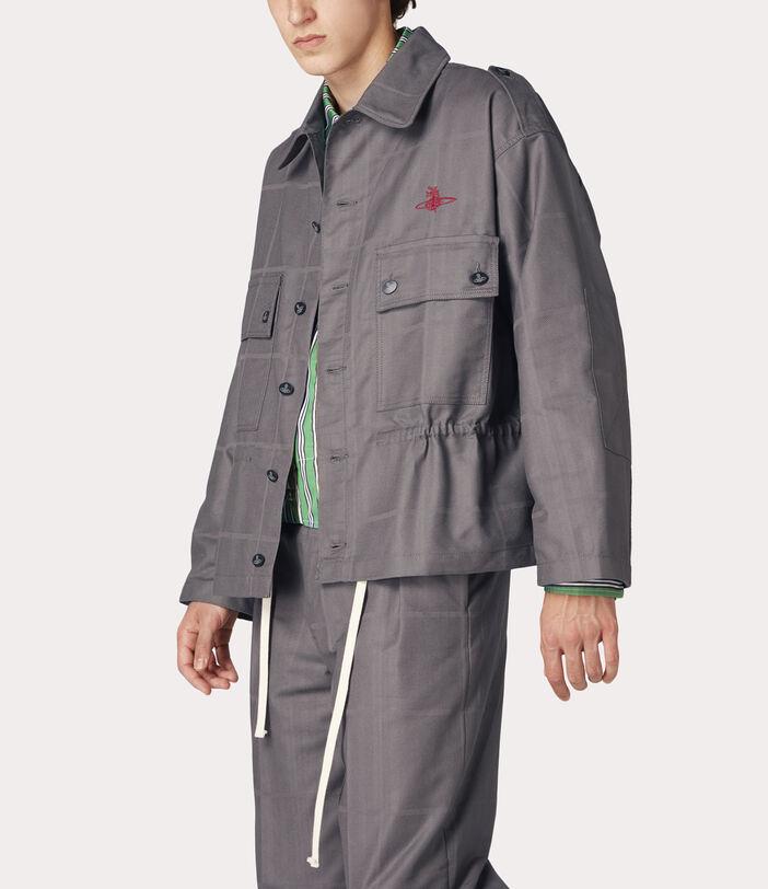 Ben Overshirt Grey Check Herringbone 3