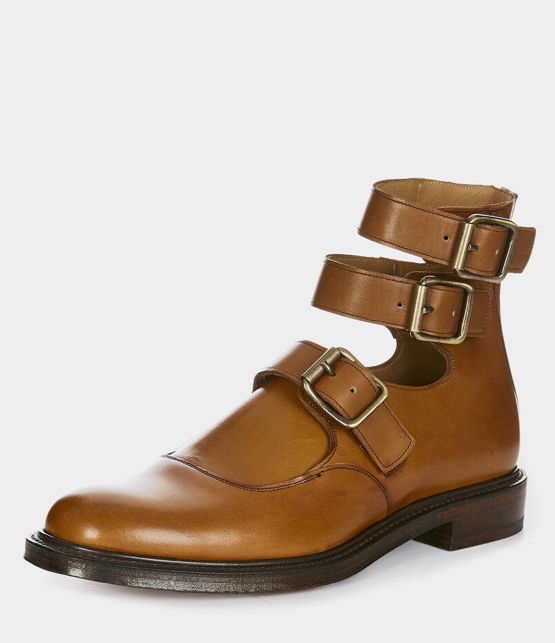 87073db812fc Joseph Cheaney   Son Unisex Three Strap Boots Chestnut Tan