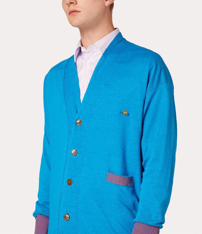 Polo Cardigan Turquoise 7