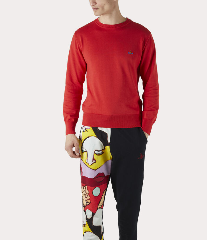 Classic Roundneck Sweater Red 3