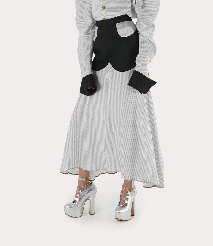 Albertine Skirt White/Black 3