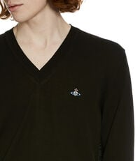 V-Neck Jumper Black