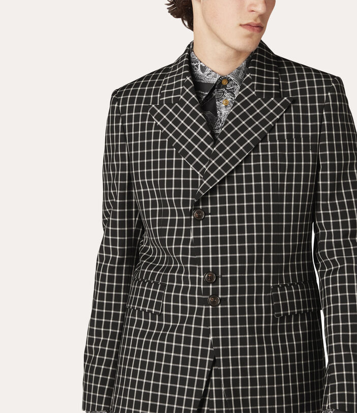 Peacock Jacket Black Small Check 5