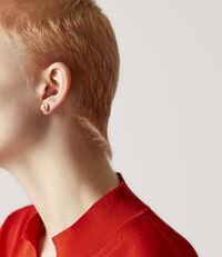 Olga Earrings Peach Pearl