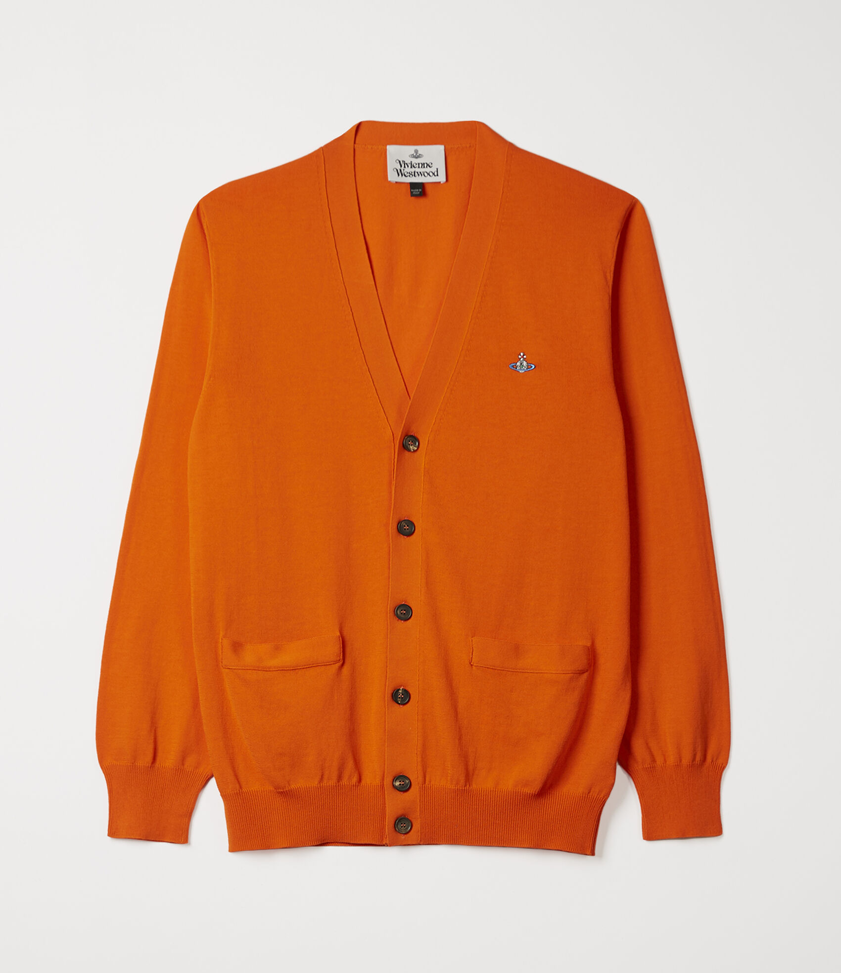 c08bf8a8c0db29 Vivienne Westwood Men's Designer Knitwear | Vivienne Westwood - Classic  Cardigan Orange