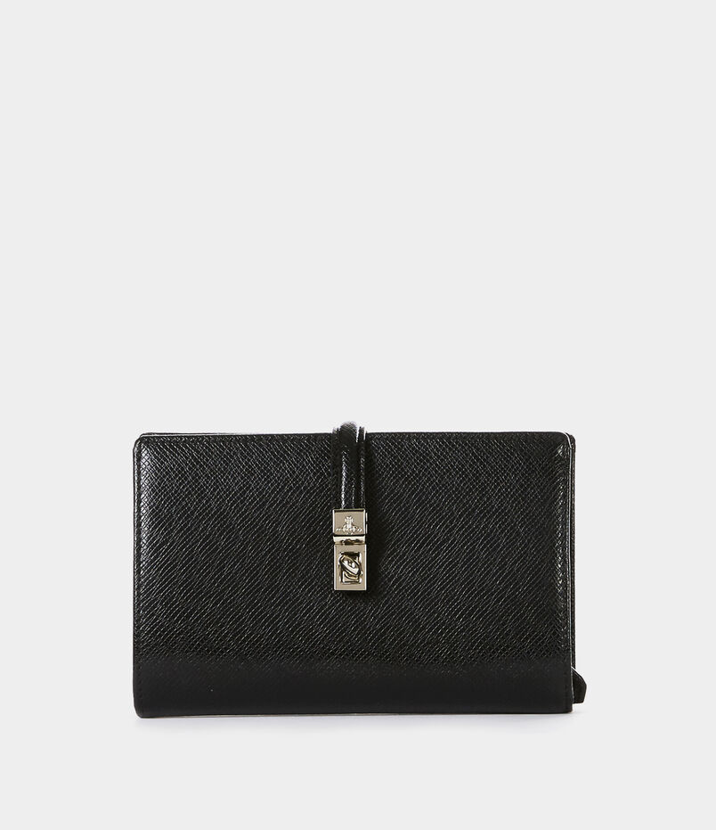 Sofia Medium Wallet With Strap Black