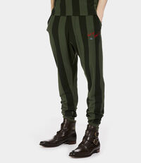 Long Johns Dark Green Stripes