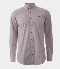 Two Button Krall Shirt Red/White Stripes