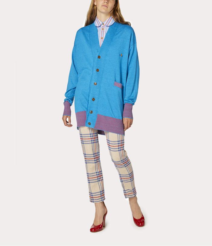 Polo Cardigan Turquoise 2
