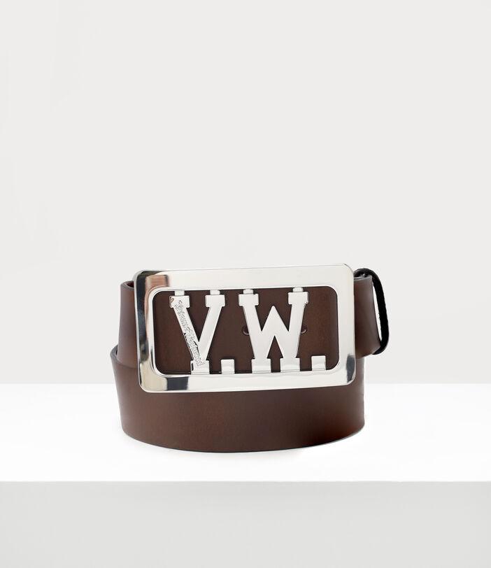 Vw Buckle Belt Brown 1