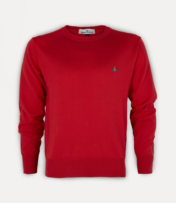 Classic Roundneck Sweater Red 1