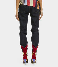 Drainpipe Jeans Blue Denim