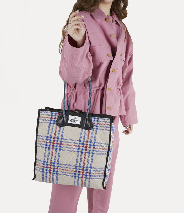 Elena Folded Shopper Tartan 2