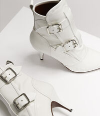 Bondage Boots Optical White