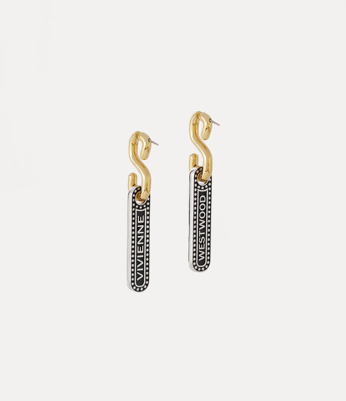 Marjane Earrings Silver/Gold-Tone 1