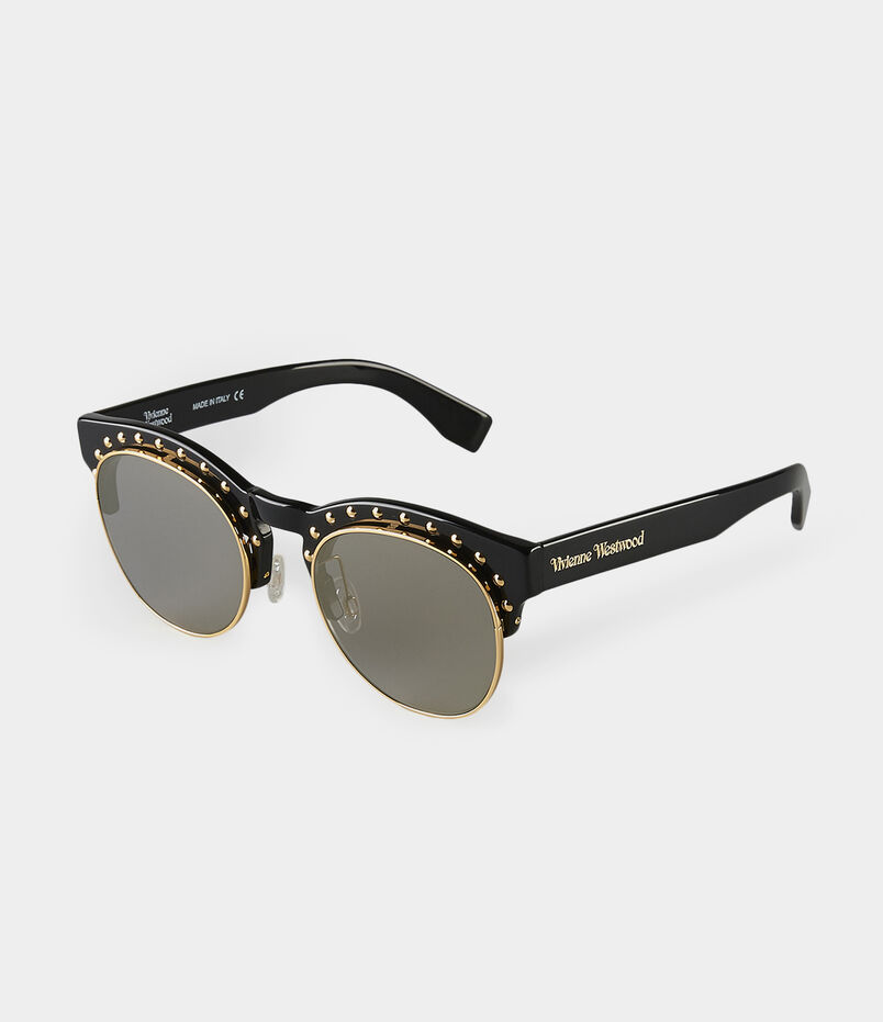 Gold Studded Black Sunglasses VW957S2BSG