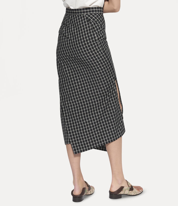 Midi Infinity Skirt Black Small Check 5