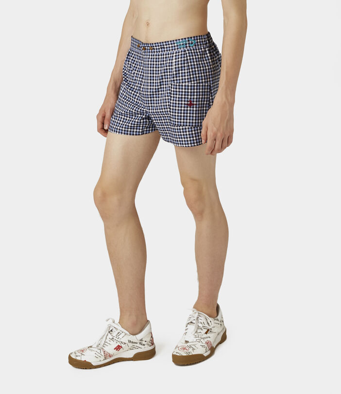 We Boxer Shorts Blue Gingham 3