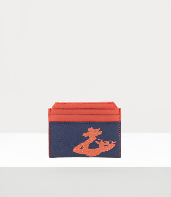 Melih Slim Card Holder Navy/ Orange 1