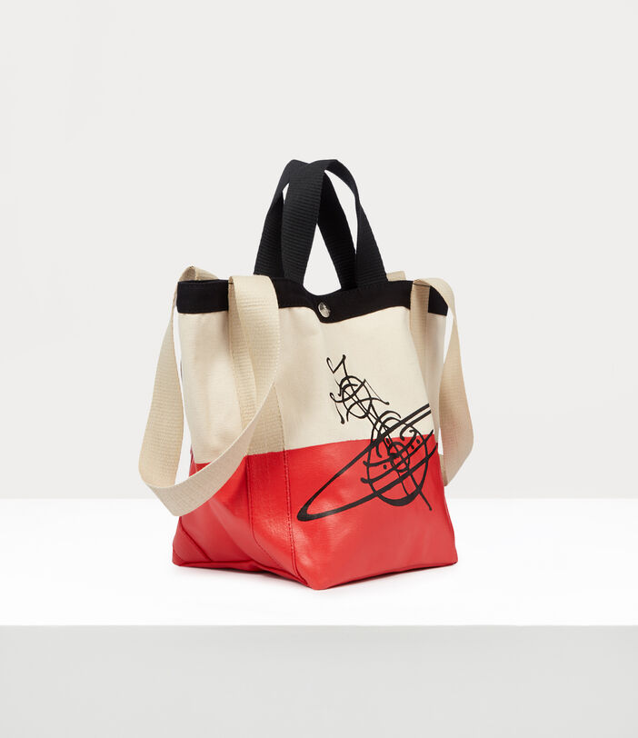 Worker Small Runner Holdall Red/Beige 2