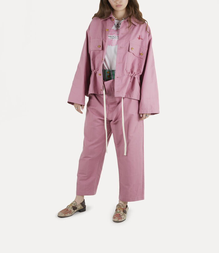 Ben Overshirt Pink Check Herringbone 2