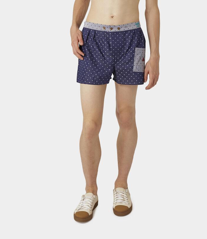 We Boxer Shorts Navy/Silver Dots 3