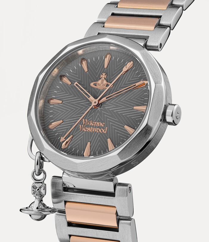 Poplar Watch Rose Gold/Charcoal 2