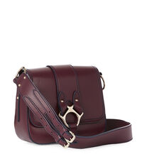 Large Folly Saddle Bag 43050014 Burgundy