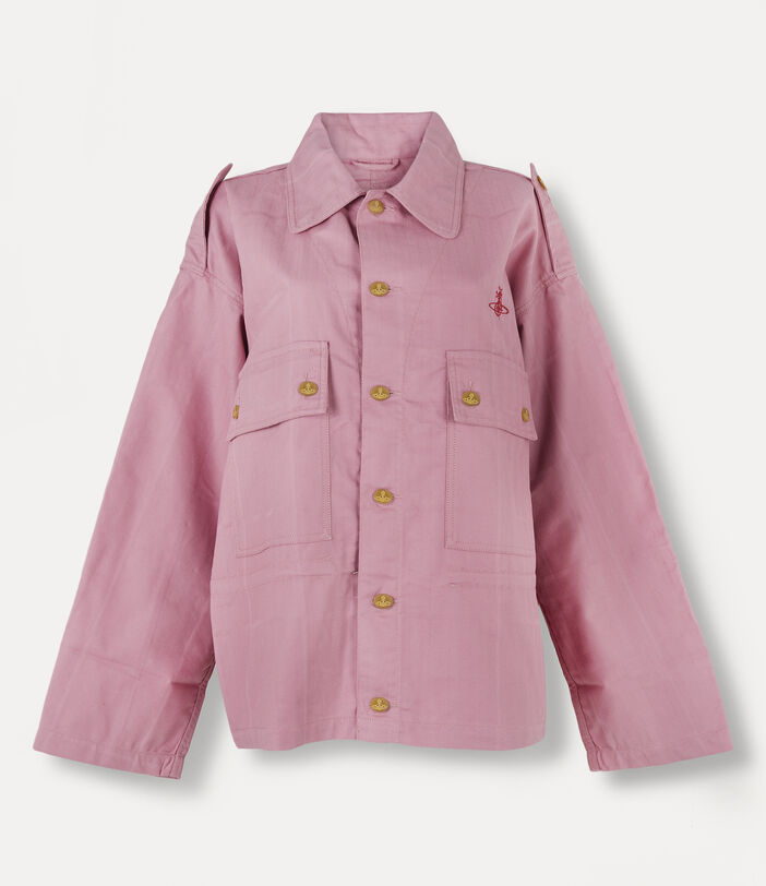 Ben Overshirt Pink Check Herringbone 1