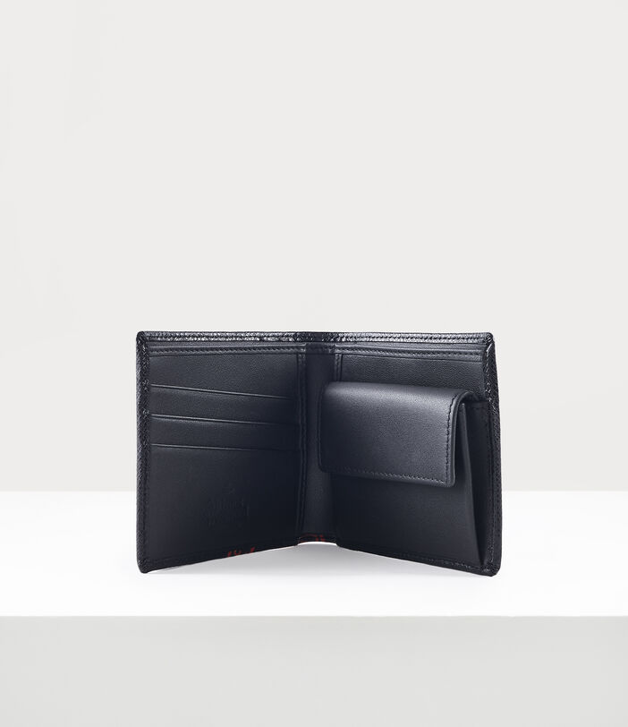 Kent Man Wallet With Coin Pocket Black/Red 4
