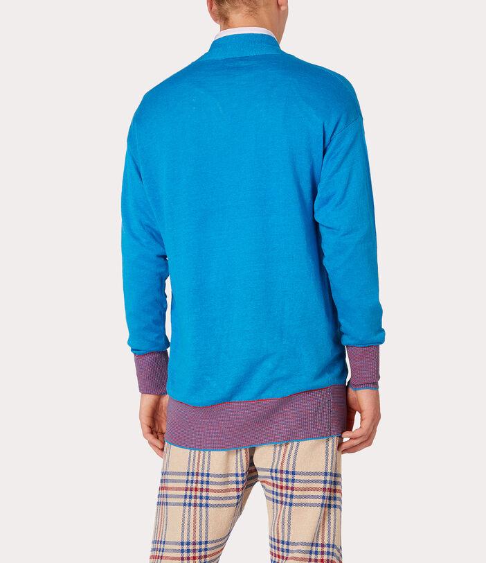Polo Cardigan Turquoise 6