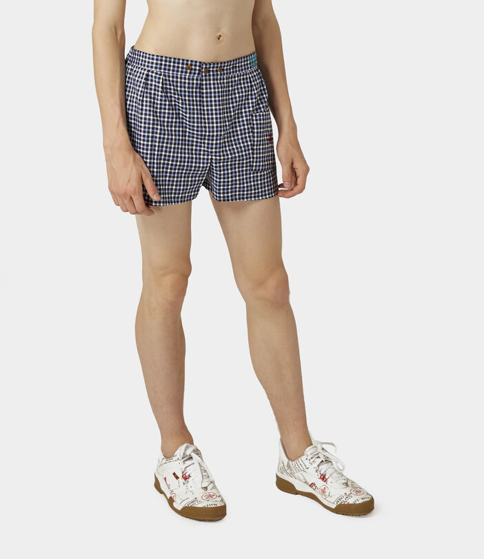 We Boxer Shorts Blue Gingham 2