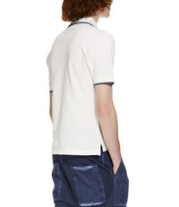 Classic Overlock Polo Shirt Off White