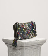 Derby Double Zip Round Crossbody Bag Splashes Hunting Tartan