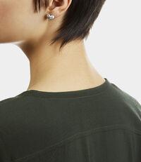 Alice Heart Earrings Silver Tone