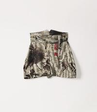 Military Shorts Chinese Peony Print